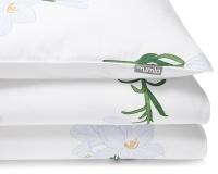 Bedruckte Baumwoll-Bettwäsche Blumen mit weißen Lilien auf weiß