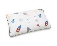 Baumwoll-Kinderbettwäsche Weltall mit Astronauten und Raketen auf klassischem weiß