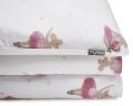 Bedruckte Baumwoll-Bettwäsche Ballerina Maus tanzend auf weiß