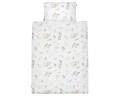 Schöne Kinderbettwäsche Waldtiere mit gemalten Waldbewohnern auf weiß aus zertifizierter Baumwolle