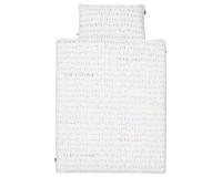 Schöne Kinderbettwäsche mit mathematische Formeln auf weiß aus zertifizierter Baumwolle