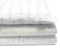 Bedruckte Baumwoll-Kinderbettwäsche mit mathematische Formeln auf weiß