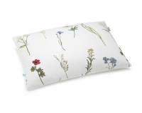 Baumwoll-Kinderbettwäsche mit gemalten Wildblumen auf klassischem weiß