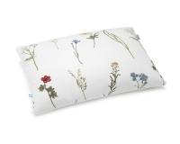Baumwoll-Bettwäsche mit gemalten Wildblumen auf klassischem weiß