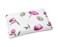 Baumwoll-Bettwäsche mit gemalten Pfingstrosen im kräftigen rosa auf klassischem weiß