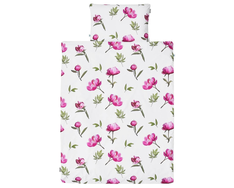 bettw sche rose peony in pinkrosa auf wei 100 baumwolle. Black Bedroom Furniture Sets. Home Design Ideas