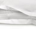 Mako-Damast Bettwäsche gerillt weiß uni aus ägyptischer Baumwolle