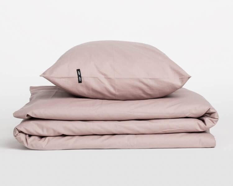 Bettwäsche altrosa PURE aus natürlicher Perkal Baumwolle