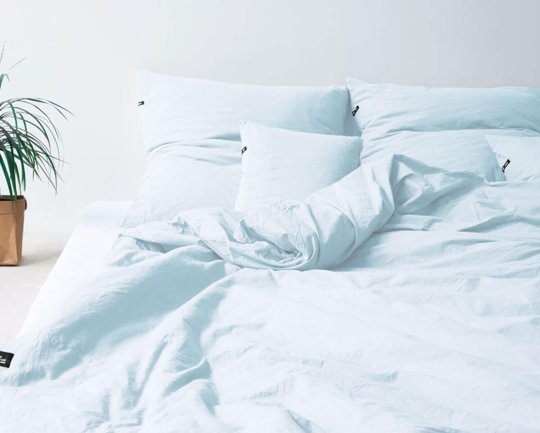 Bettwäsche Hellblau Pure Aus Natürlicher Perkal Baumwolle
