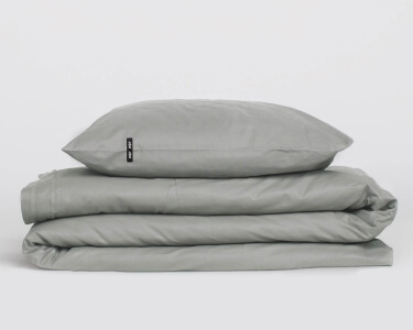 Bettwäsche dunkelgrau aus Perkal Baumwolle