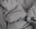 Schöne Bettwäsche aus hochwertiger Perkal Baumwolle in dunkelgrau