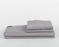 Perkal Bettwäsche in dunkelgrau aus natürlicher Baumwolle