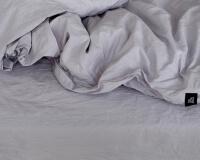 Schöne Bettwäsche grau aus reiner Baumwolle