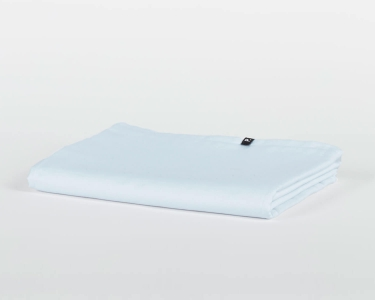 Bettlaken ohne Gummizug hellblau PURE aus Perkal Baumwolle