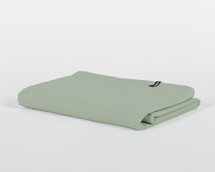 Bettlaken ohne Gummizug salbeigrün PURE aus Perkal Baumwolle