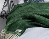 Grüne Wolldecke RuRu aus neuseeländischer Schurwolle