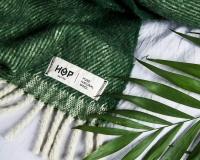 Schurwolldecke grün aus neuseeländischer Schur