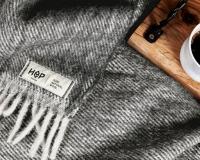 Schurwolldecke grau aus neuseeländischer Schur