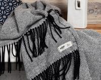 Schurwolldecke schwarz aus neuseeländischer Schur