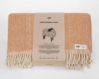 Schurwolldecke beige aus neuseeländischer Schur