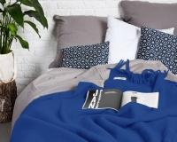Einfargige Wolldecke kobaltblau Yeti aus neuseeländischer Schurwolle