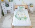 Kinderbettwäsche mit Krokodil Aquarell Aufdruck