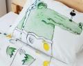 Krokodil Kinderbettwäsche aus hochwertiger Baumwolle