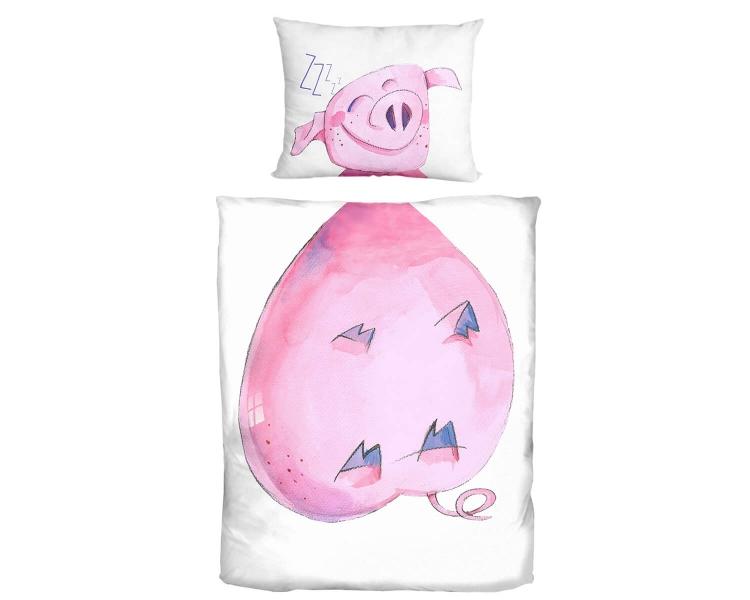 Schweinchen Bettwäsche mit Aquarell Aufdruck