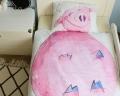 Kinderbettwäsche mit Rosa Schweinchen aus zertifizierter Baumwolle