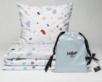 Bettwäsche Terrazzo von HOP Design aus Baumwollsatin im Stoffbeutel