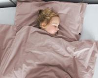 Warme Kinderbettwäsche aus 100% Baumwolle in altrosa