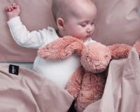 Kinderbettwäsche 100x135 cm aus reiner Baumwolle in rosa