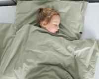 Warme Kinderbettwäsche aus 100% Baumwolle in salbeigrün