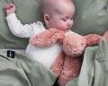 Baby Bettwäsche 90x120 cm in moderner Unifarbe salbeigrün