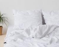 Kinderbettwäsche 100x135 cm aus reiner Baumwolle in  weiß