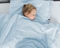 Warme Kinderbettwäsche aus 100% Baumwolle in hellblau