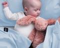 Baby Bettwäsche 90x120 cm in moderner Unifarbe hellblau
