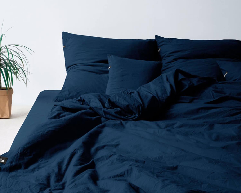 Kinderbettwäsche Blau Pure Aus Natürlicher Perkal Baumwolle