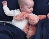 Kinderbettwäsche 100x135 cm aus reiner Baumwolle in dunkelblau