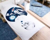 Kinderbettwäsche träumender Wolf Hayka