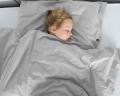Warme Kinderbettwäsche aus 100% Baumwolle in hellgrau