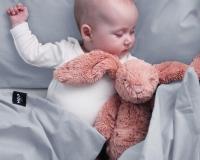 Baby Bettwäsche 90x120 cm in moderner hellgrau