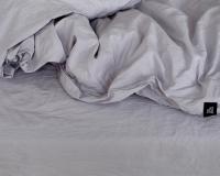 Kinderbettwäsche 100x135 cm aus reiner Baumwolle in  hellgrau