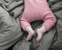 Baby Bettwäsche 90x120 cm in modernem dunkelgrau