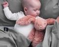 Kinderbettwäsche 100x135 cm aus reiner Baumwolle in dunkelgrau