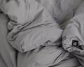 Kinderbettwäsche dunkelgrau im Format 110x125 cm von HOP Design