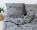 Dunkelgraue Kinderbettwäsche aus reiner Perkal Baumwolle von HOP Design