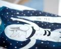 Bettwäsche mit Wolf als Astronaut Hayka