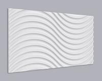 3D Wandpaneel 003 aus MDF Holzplatte mit synchronem Wellen Muster