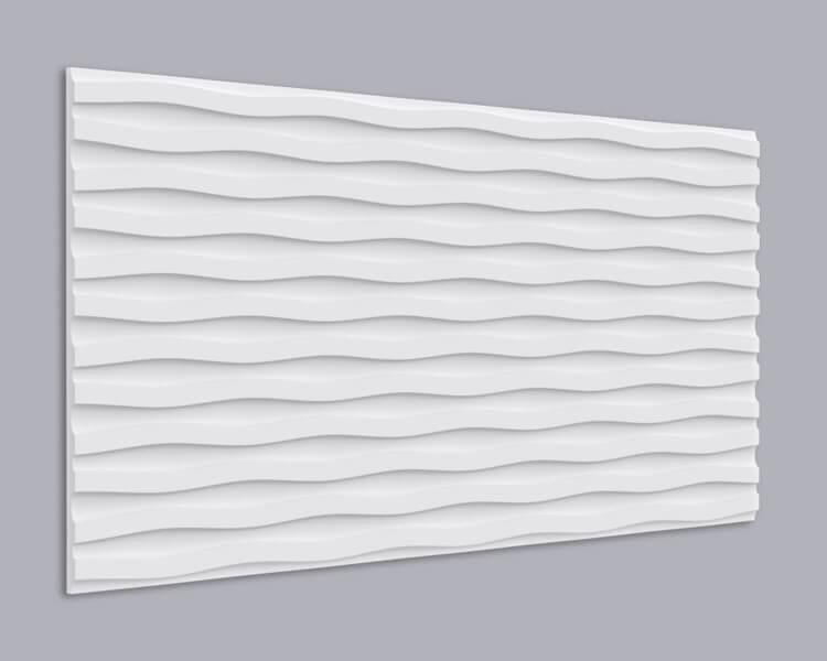 3D Wandpaneel Holz 005 mit Wellen Muster